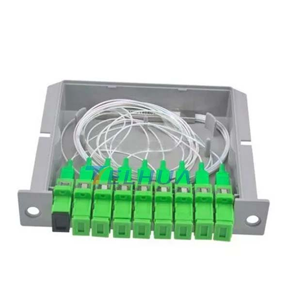 8 Way FTTH Distribution Box 1 x 8 Insertion Type Fiber Optic PLC Fiber Optic Splitter