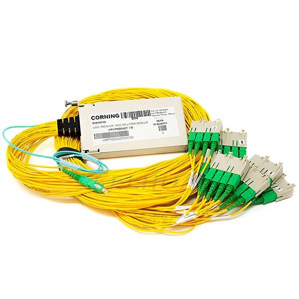 1x32 Fiber Optical Splitter Module SCAPC for Corning OptiTect cabinet
