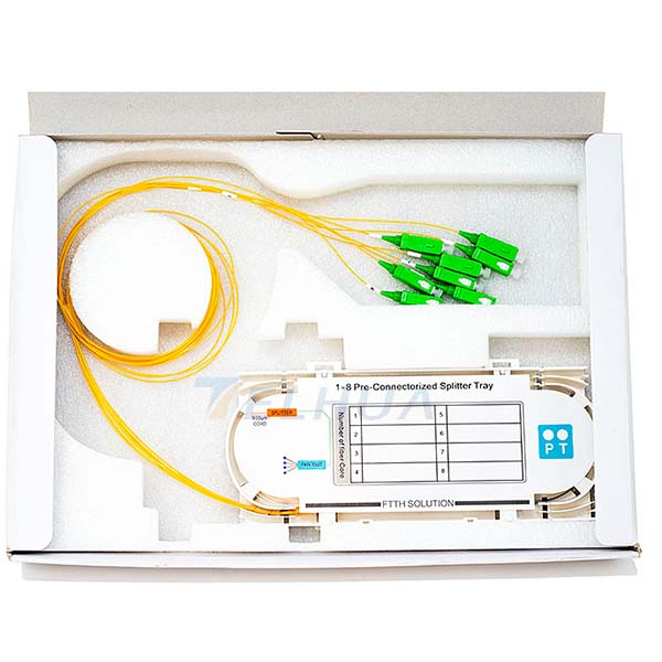 1x8 Optical Splitter Tray SCAPC for building