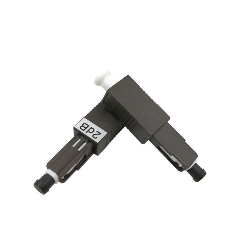 2db Black MU Fiber Optical Attenuator used in EDFA, DWDM Long-Haul