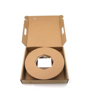 1 2 4 core pre-terminated fiber optic wall mount box with Drop Cable in the small carton