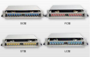 24 port rack mounted optical fiber patch panel