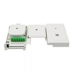 8 Core Mini FTTH Fiber Optic Indoor Wall Mount NAP Terminal box