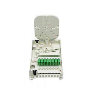 8 Core wall mount distribution box FTTH Fiber Optic splitter box