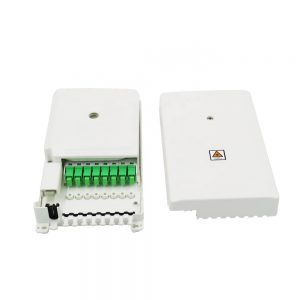 8 core optical fiber distribution splitter termination box indoor wall mounted