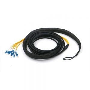 CPRI GYFJH Outdoor Waterproof Pigtails with 12 Core LC UPC Connectors