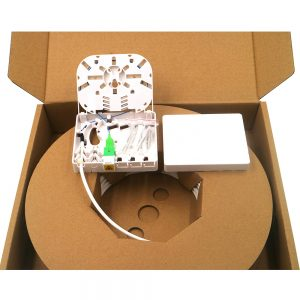 FTTH 4FO Kit PTO box fiber optic wall mounted termination box with SCAPC adapter and 4.0mm pigtail