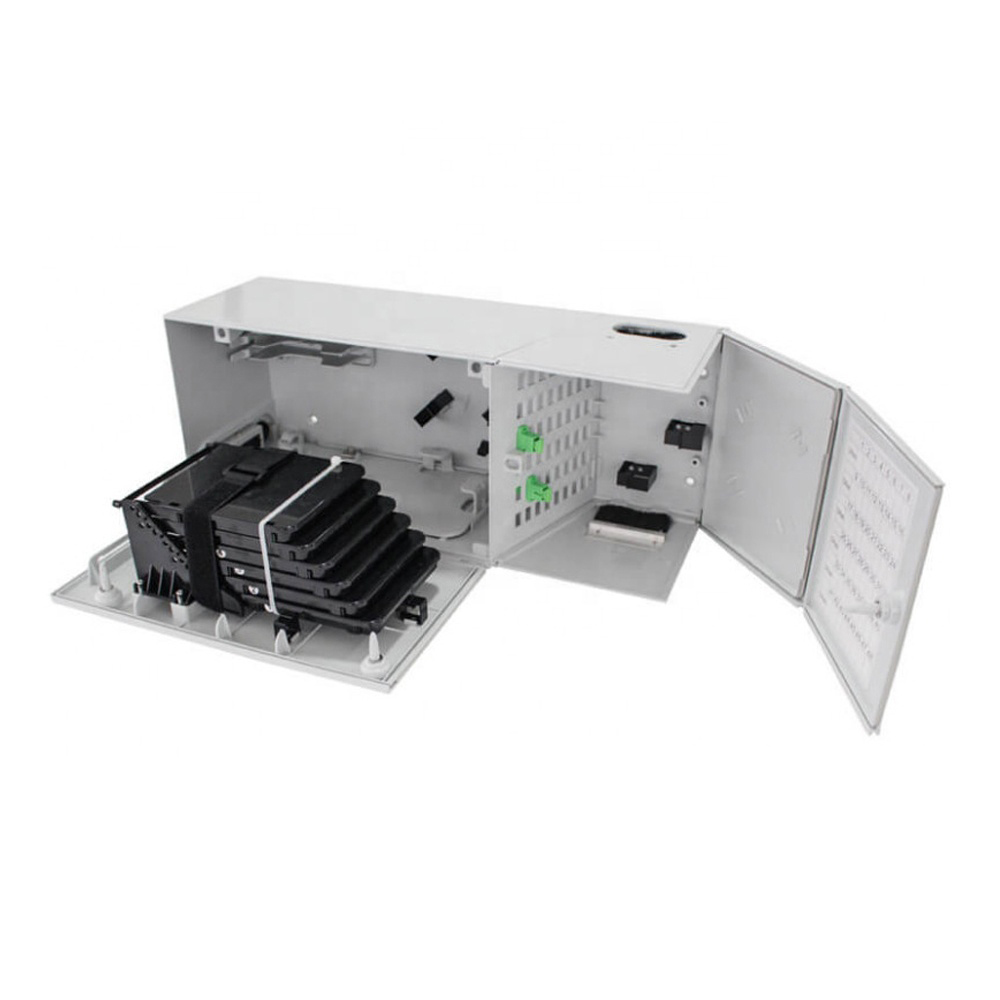 FTTH FTTX MODB Fiber Optic Multi Operator Distribution Box 48FO with 48pcs SCAPC Simplex adapters