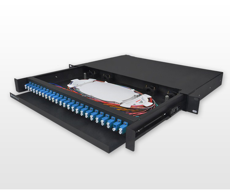 FTTH ODF 19 inch 1U 12 24 36 48 port sc fiber wall mount patch panel