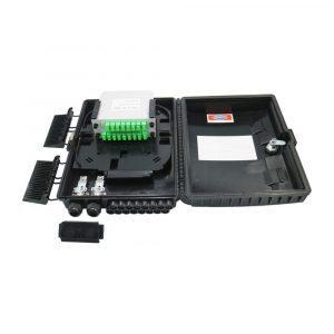 FTTH Optical Joint Terminal Box Black Wall Mount 24 port Fiber Optical Splice Box