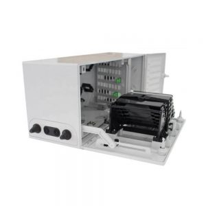 FTTH Wall mounted caja multioperador 48fo fiber distribution box with SCAPC 1X16 splitters