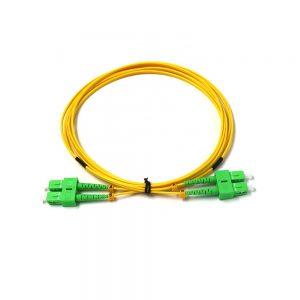 Fiber Optic indoor Jumper SCAPC- SCAPC 9-125 LSZH G657A2 Optic patch cord