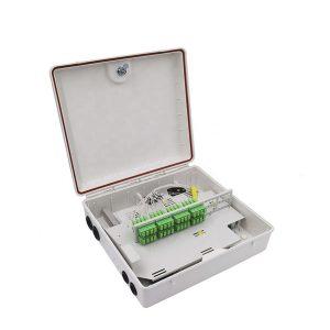 Outdoor PC Material Waterproof 48 Core FTTH Fiber Optic Distribution Box Spliter Box