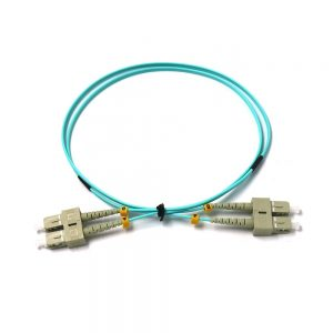 ftth SC PC-SC PC Duplex OM3 MM Fiber Optic Indoor Patch Cord for telecommunications