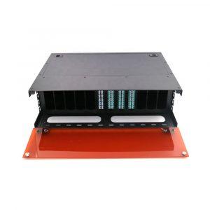 4U MPO MTP ODF Rock Mount Fiber Optic Patch Panel with 24 Core Cassette
