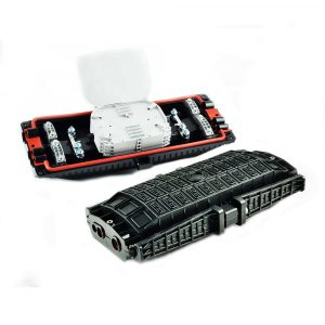 96 Core Horizontal Inline Splice Closure Fiber Optic Enclosure Joint Box