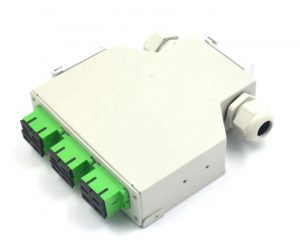 DIN Rail fiber optic distribution box splice box with 6 SC Duplex adapter