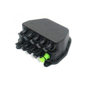 Fiber Optical Waterproof Distribution Box Wall Mount Plastic Closure with Mini SC Adapter
