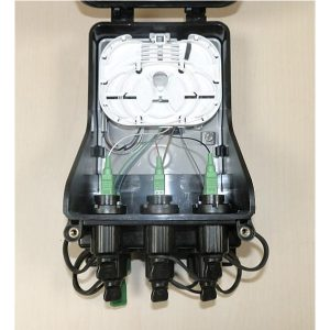 Outdoor optical terminal box with 8 hardened connectors