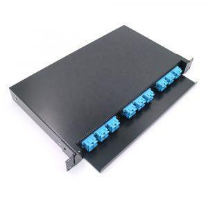 Telecom 36 Port ODF SC 1U 19inch rack mount sliding type Fiber Optic Patch Panel