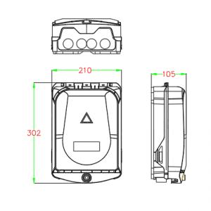 Dimension of building termination box roe-16ui