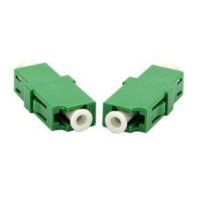 LC/APC Fiber Optic Adapter Single Mode Simplex Flange Adapter