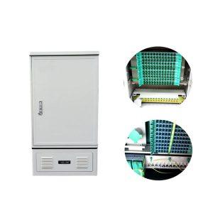 144 SMC Fiber Optic Cross Connect Cabinet, Optical Cross Connection Cabinet Outdoor Fiber Optic Cross Cabinet FTTH Cabinet