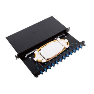 1U fiber optic distribution frame 24 port odf patch panel