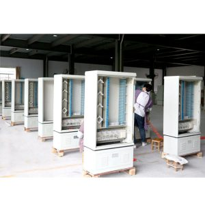 288 CORES STELL Fiber Optic Distribution Cabinet, Optical Cross Connection Cabinet Outdoor Fiber Optic Outdoor Cabinet FTTH Cabinet