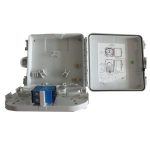 Outdoor 4 port fiber optic termination box