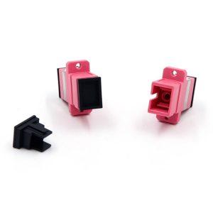 SCPC Fiber Optic Adapter Multimode Simplex Fiber Connector Om4-1