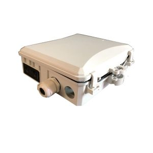 outdoor ftth waterproof plastic Wall or Poll mounted 12 core ports fiber optic termination box