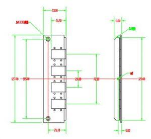 12 ports sc simpllex adapter plate dimension of din rail fiber termination box
