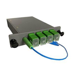 1X4 LGX chassis PLC splitter for FTTh TIM FIBERCOP cabinet