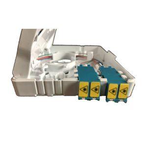 2 ports cores wall mounted FTTH Mini Fiber Optics Socket Panel Box with lc shutter adapter