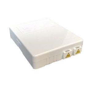 2 ports cores wall mounted FTTH Mini Fiber Optics Socket Panel Box with sc apc pigtail