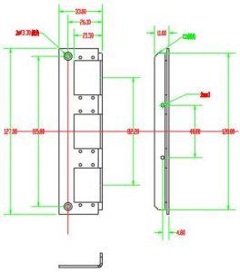 6 ports sc duplex adapter panel dimension of din rail fiber distribution box
