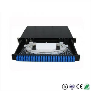 FTTH 12-24 core SC FC ST LC rack mount Splicing fiber Optic patch panel Termination Box ODF