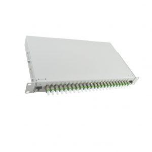 19inch 1U 24 ports E2000 sliding drawer fiber optic patch panel