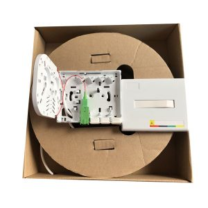 SC APC 4 core outlet drop cable wall mounted fiber optic termination box for FTTH