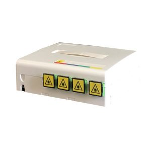 Supply FTTH indoor wall mounted faceplate 4 port fiber optic distribution box