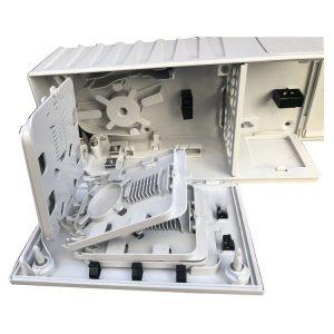 Telefonica Compact 32 Cores SC PLC Splitter FTTH Splice Enclosure Box Fiber optic Distribution Box Terminal Box