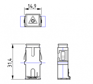assembled dimension of shuttered Adapter sc