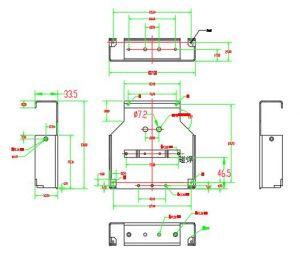 body dimension of din rail fiber box
