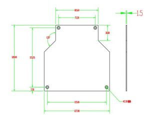 cover dimension of din rail fiber connection box