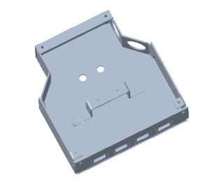 din rail fiber termination box internal view