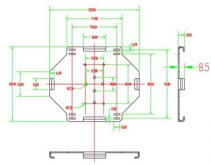 splice tray holder dimension of din rail fiber terminal box