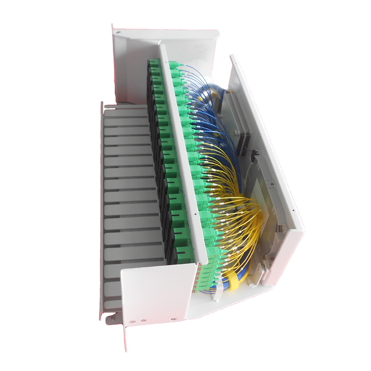 19inch 3U 128 ports rotated fiber optic splitter patch panel right opening