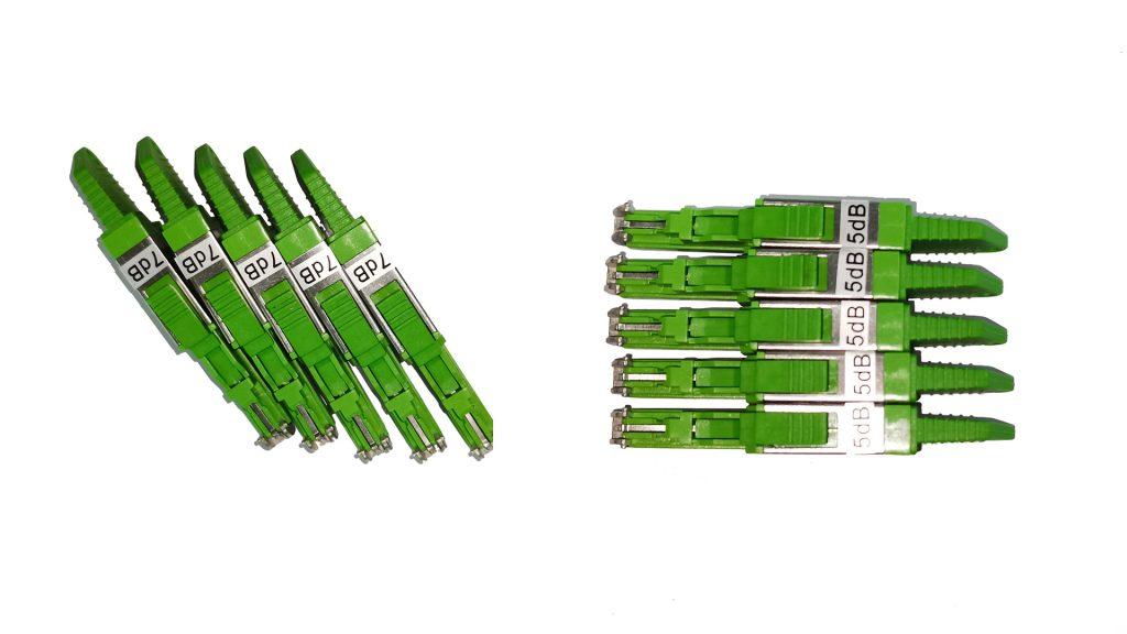 E2000 male to E2000 female fiber attenuator