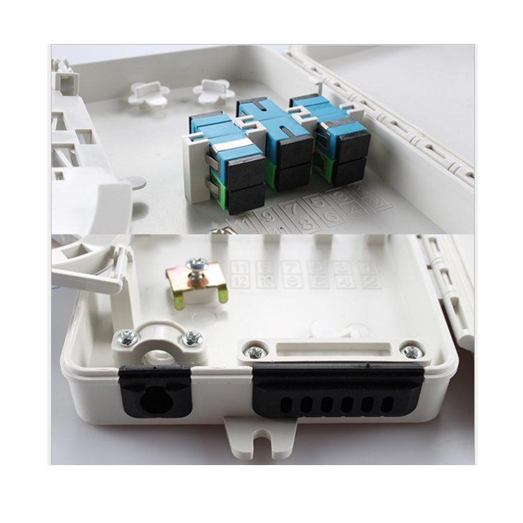 Outdoor waterproof 6 ports odf optical fiber distribution box wall mount termination box